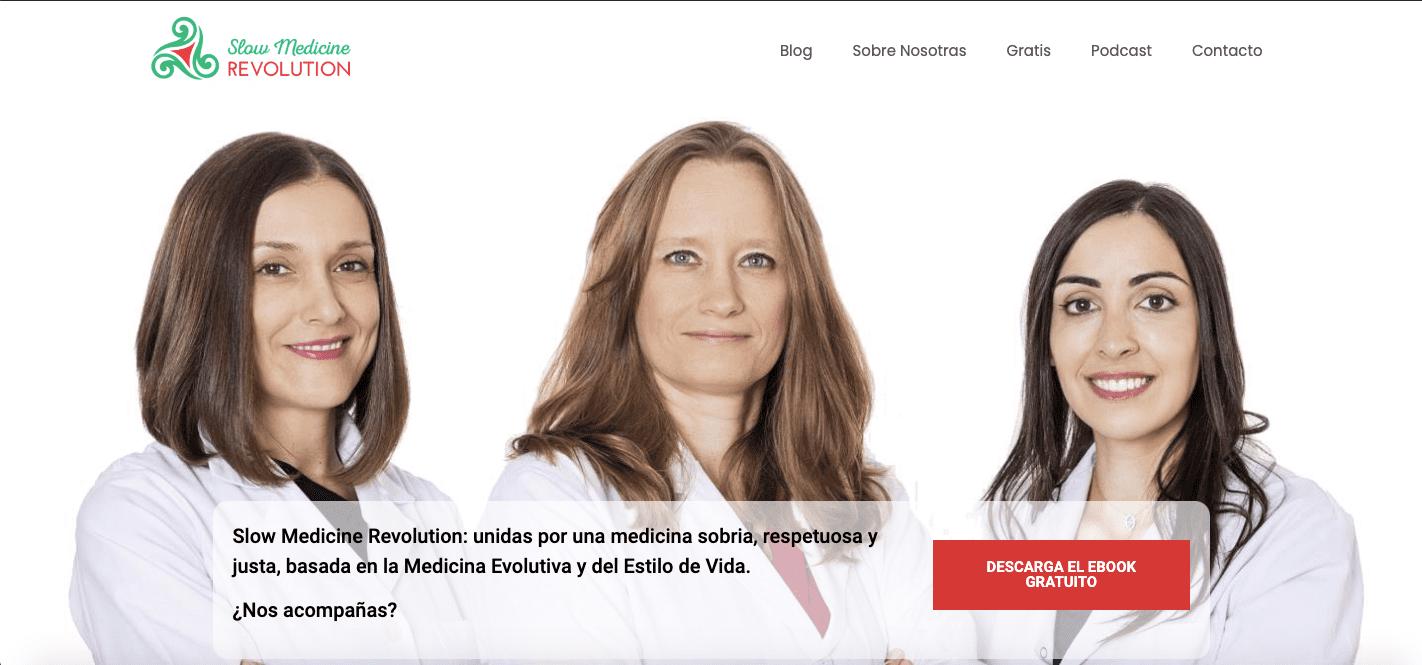 Diseño web - Slow Medicine Revolution